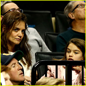 Katie Holmes Attends March Madness Game with Daughter Suri!