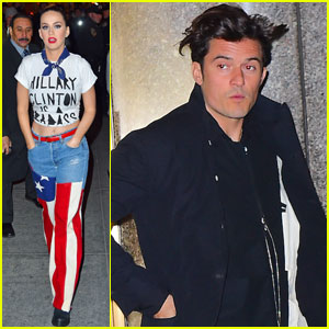 Orlando Bloom Supports Katy Perry at Concert for Hillary Clinton