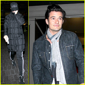 Katy Perry & Orlando Bloom Keep it Low Key for LAX Landing