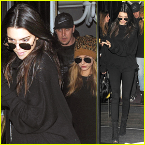 Kendall Jenner Meets Up With Hailey Baldwin For Lunch in Paris