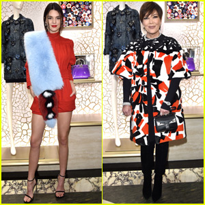 Kendall & Kris Jenner Celebrate Fendi Store Opening