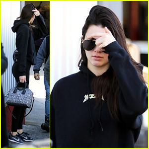 Kendall Jenner Takes Her Range Rover in For Mechanical Maintenance