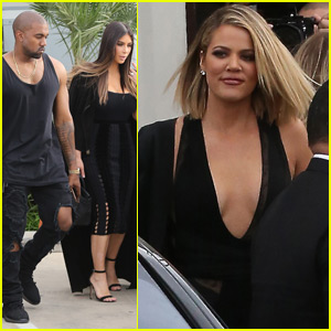 Kim Kardashian & Kanye West Stop By 'Kocktails With Khloe'