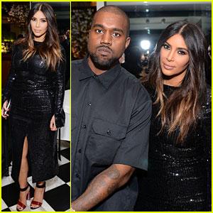 Kim Kardashian & Kanye West Join Pal Carine Roitfeld at Daily Front Row Awards Dinner Party