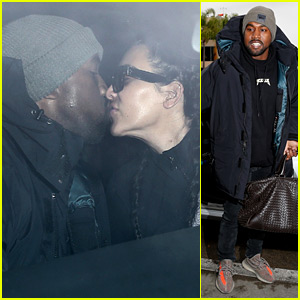 Kim Kardashian & Kanye West Kiss During LAX Airport Dropoff