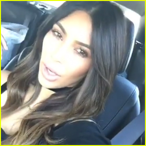 Kim Kardashian Shows Off New Ombre Hair Color!