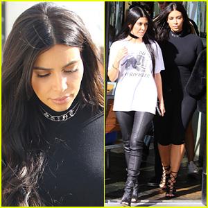 Kim Kardashian Wears a 'Saint' Diamond Necklace