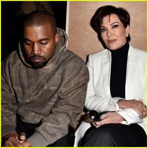 Kris Jenner & Kanye West Attend Givenchy Paris Show Together