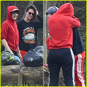 Kristen Stewart & Rumored Girlfriend Soko Hug it Out After Frisbee Game