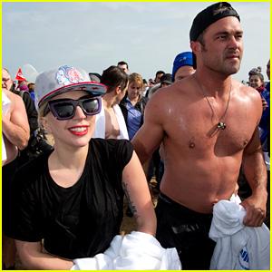 Lady Gaga & Shirtless Taylor Kinney Take Polar Plunge! (Photos)