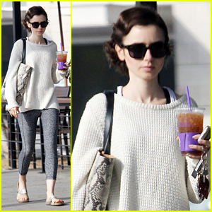 Lily Collins Is in a World of 'Fog, Fatigue and Fun' Filming 'The Last Tycoon'