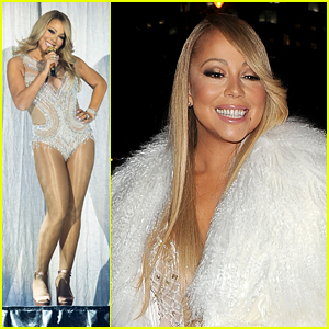 Mariah Carey Travels By Boat to O2 Arena Performance