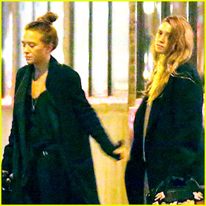 Mary-Kate & Ashley Olsen Leave Their NYC Office Together
