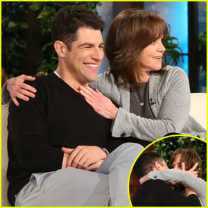 Max Greenfield & Sally Field Make Out on 'Ellen' (Video)