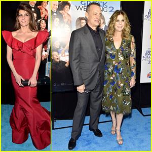 Nia Vardalos Joins Tom Hanks & Rita Wilson For 'My Big Fat Greek Wedding 2' Premiere