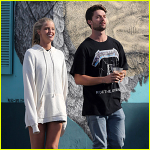 Patrick Schwarzennger Spends the Day With Blonde Model Friend Abby Champion