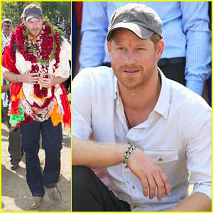 Prince Harry Celebrates Holi Festival In Nepal!
