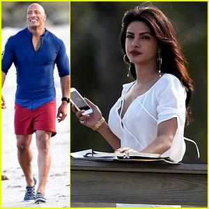 Priyanka Chopra Gets to Work on 'Baywatch' with Dwayne Johnson