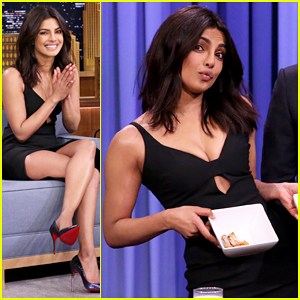 Priyanka Chopra Has A Wing-Eating Contest with Jimmy Fallon - Watch Here!