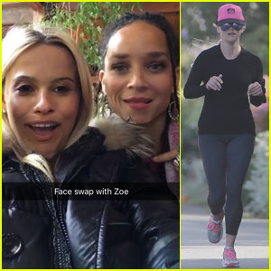 Reese Witherspoon Swaps Faces With Her Pal Zoe Kravitz