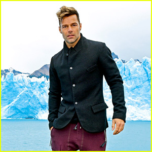 Ricky Martin Visits the Amazing Glacier in Argentina