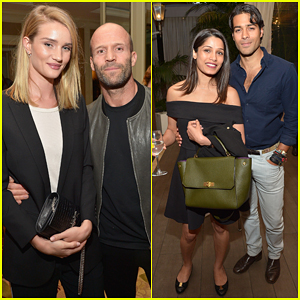 Rosie Huntington-Whiteley & Freida Pinto Couple Up At Dr. Nigma Talib Book Launch Party!