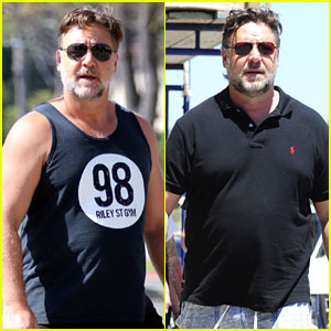 Russell Crowe Shows Off His 52 Pound Weight Loss (Photos)
