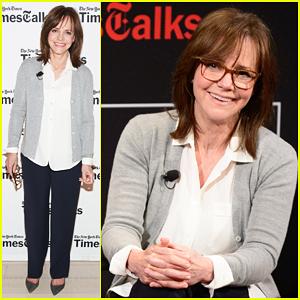 Sally Field Follows Helen Mirren's Footsteps, Kisses Stephen Colbert - Watch Now!