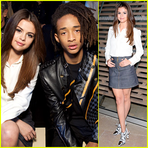 Selena Gomez & Jaden Smith Sit Front Row at Louis Vuitton Paris Show