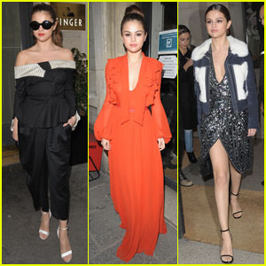 Selena Gomez Switches Up Her Outfits for Radio Promo in Paris