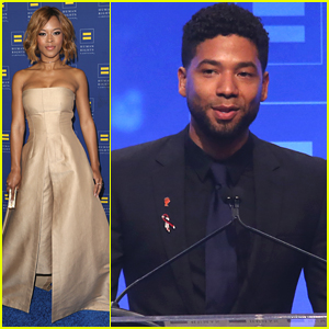 Jussie Smollett & Serayah Honored With 'Empire' Cast at Human Rights Campaign Los Angeles Gala Dinner