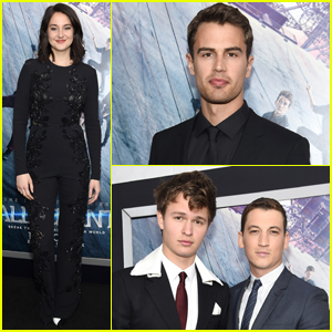 Theo James & Shailene Woodley Premiere 'Allegiant' in NYC