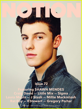 Shawn Mendes Considers Himself 'Lucky' in 'Notion' Magazine