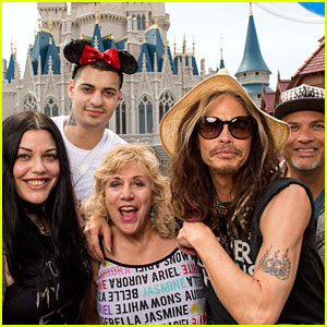 Steven Tyler Celebrates His 68th Birthday at Disney World