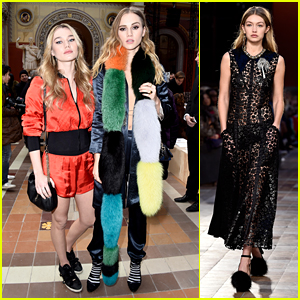Suki Waterhouse & Sister Imogen Watch Gigi Hadid Walk in Sonia Rykiel Show