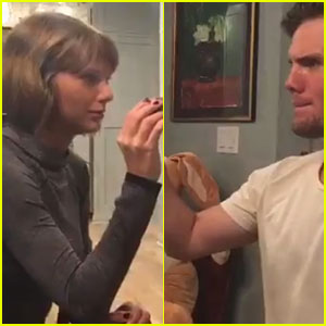 Taylor Swift Has an Easter Egg Battle with Brother Austin (Video)