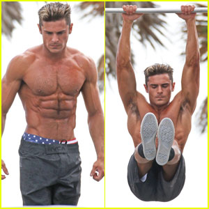 Zac Efron Uses His Ripped Muscles to Complete 'Baywatch' Obstacle Course
