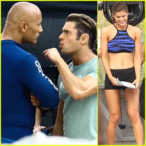 Zac Efron Gets Flirty With Alexandra Daddario on 'Baywatch' Set