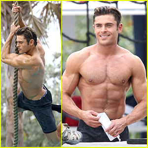 Zac Efron Goes Shirtless for Tarzan-Like 'Baywatch' Moment!