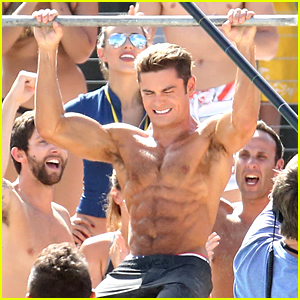 Zac Efron Takes On Dwayne Johnson in 'Baywatch' Pull Up Contest