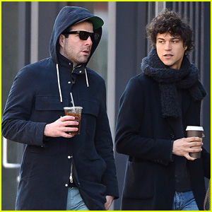 Zachary Quinto & Boyfriend Miles McMillan Walk Their Dogs Together