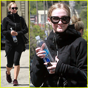 Ashlee Simpson Braves Heat in All Black After Workout
