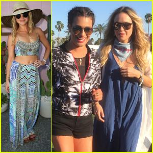 Becca Tobin & Lea Michele Make It a Girl's Trip To Coachella 2016