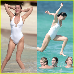Bella Hadid Gets Thrown Into The Caribbean Seas During Vacation