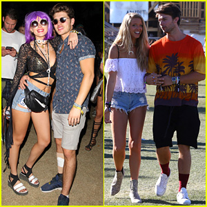Bella Thorne Wears a Fun Purple Wig at Coachella 2016