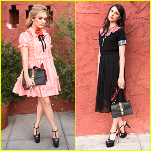 Billie Lourd & Margaret Qualley Are Gucci Girls at Private Dinner