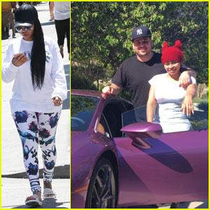 Rob Kardashian Buys Blac Chyna a Purple Lamborghini