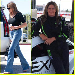 Caitlyn Jenner & Son Burt Spend the Day Racing Cars