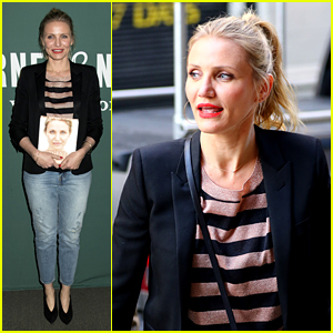 Cameron Diaz Signs Copies of 'Longevity Book' in NYC