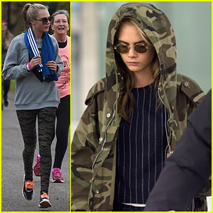 Cara Delevingne Runs To Support Cancer Research in London